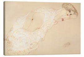 Canvas print  Lying on her stomach - Gustav Klimt