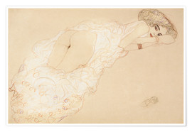 Poster  Lying on his stomach act - Gustav Klimt