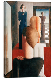 Canvas print  Five figures in a space (Roman) - Oskar Schlemmer