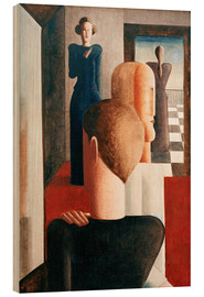 Wood print  Five figures in a space (Roman) - Oskar Schlemmer