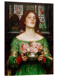 Foam board print  Gather Rosebuds While May - John William Waterhouse