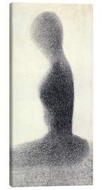Canvas print  Young woman (study) - Georges Seurat