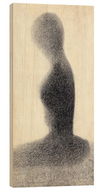 Wood  Young woman (study) - Georges Seurat