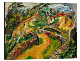 Aluminium print  Landscape with ascending road - Chaim Soutine