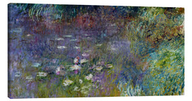 Canvas print  Les Nympheas - Claude Monet