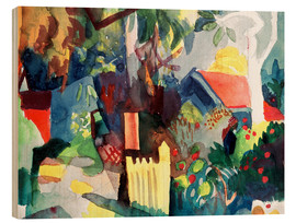 Wood  Landscape with Bright Tree - August Macke