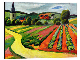 August Macke - Landscape with Church and path