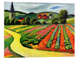 Forex  Landscape with Church and path - August Macke