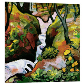 Foam board print  Forest Brook - August Macke