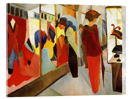 Acrylic print  Fashion Store - August Macke