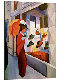 Alu-Dibond  Hat Shop - August Macke
