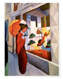 Premium poster  Hat Shop - August Macke