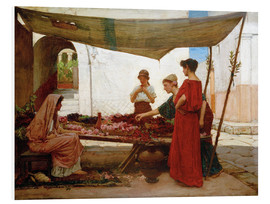 Foam board print  A Flower Stall - John William Waterhouse