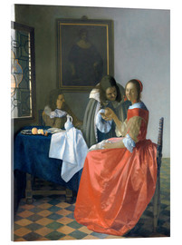 Acrylic print  The Girl with the Wine Glass - Jan Vermeer