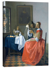Canvas print  The Girl with the Wine Glass - Jan Vermeer