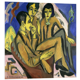 Foam board print  Group of artists, a conversation among artists - Ernst Ludwig Kirchner