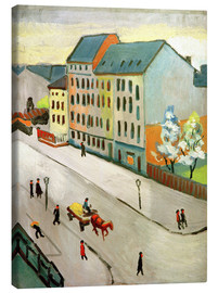 Canvas print  Our Street in Grey - August Macke