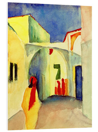 Foam board print  Alley in Tunis - August Macke