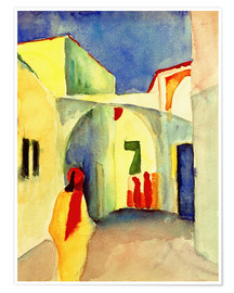 Premium poster  Alley in Tunis - August Macke