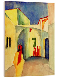 Wood print  Alley in Tunis - August Macke