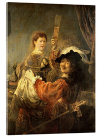 Rembrandt van Rijn - Self-portrait with his wife Saskia as the prodigal son
