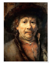 Premium poster Rembrandt, the small self-portrait