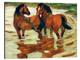Franz Marc - Two horses in the alluvial