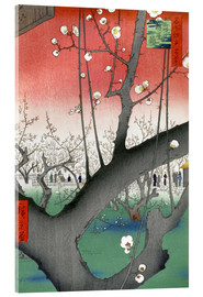 Acrylic print  The Plum Tree Teahouse at Kameido - Utagawa Hiroshige