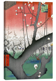 Canvas print  The Plum Tree Teahouse at Kameido - Utagawa Hiroshige