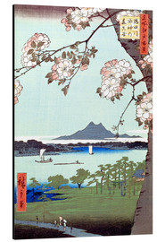 Aluminium print  Masaki and the Suijin Grove by the Sumida River - Utagawa Hiroshige