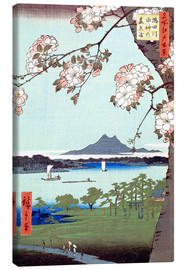 Canvas  Masaki and the Suijin Grove by the Sumida River - Utagawa Hiroshige