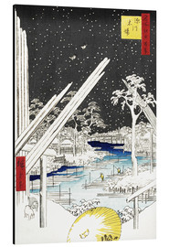 Aluminium print  The Carpenters' Quarter in Fukagawa - Utagawa Hiroshige