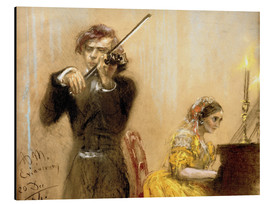 Adolph von Menzel - Clara Schumann and Joseph Joachim playing music