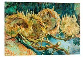 Acrylic print  Four Cut Sunflowers - Vincent van Gogh