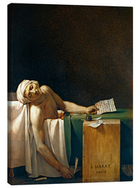 Canvas print  The Death of Marat - Jacques-Louis David