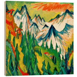 Wood print  Mountain Peak - Ernst Ludwig Kirchner