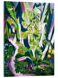 Acrylic print  Inside a forest - Ernst Ludwig Kirchner