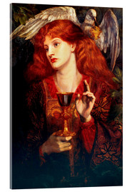 Acrylic print  The Damsel of the Sanct Grail - Dante Charles Gabriel Rossetti