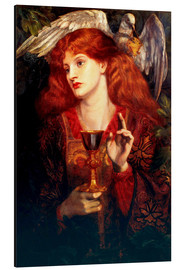 Aluminium print  The Damsel of the Sanct Grail - Dante Charles Gabriel Rossetti