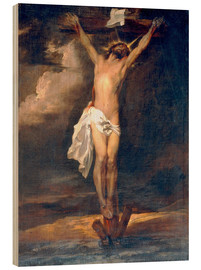 Wood print  Christ on the Cross - Anthonis van Dyck