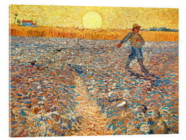 Acrylic print  Sower at Sunset - Vincent van Gogh