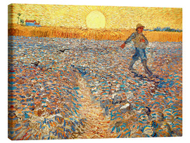 Canvas  Sower at Sunset - Vincent van Gogh