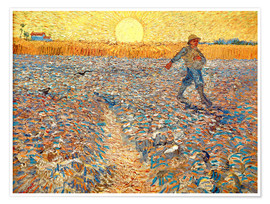 Premium poster Sower at Sunset