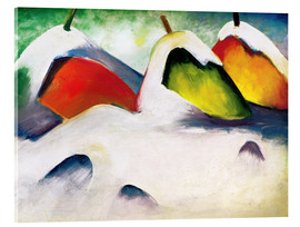 Acrylic print  Squatting in the snow - Franz Marc
