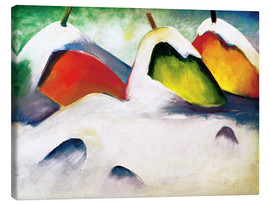 Canvas print  Squatting in the snow - Franz Marc