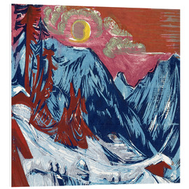 Foam board print  Winter moonlit night - Ernst Ludwig Kirchner