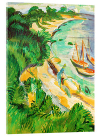 Acrylic print  Fehmarn bay with boats - Ernst Ludwig Kirchner