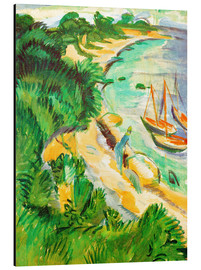 Alu-Dibond  Fehmarn bay with boats - Ernst Ludwig Kirchner