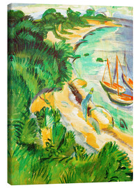 Canvas print  Fehmarn bay with boats - Ernst Ludwig Kirchner