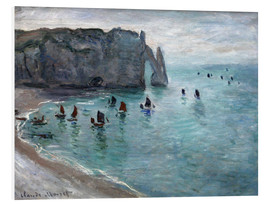 Foam board print  Etretat - Claude Monet